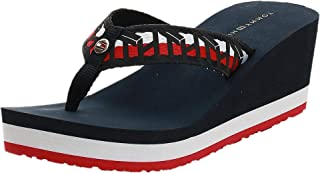 Tommy Hilfiger TH WEBBING WEDGE BEACH SANDAL Women's Fashion Sandals