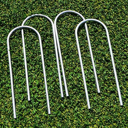 FORZA Fußballtorpfostenanker – robuste U-Stifte für PVC Fußballtore (25cm, 4er-Set)