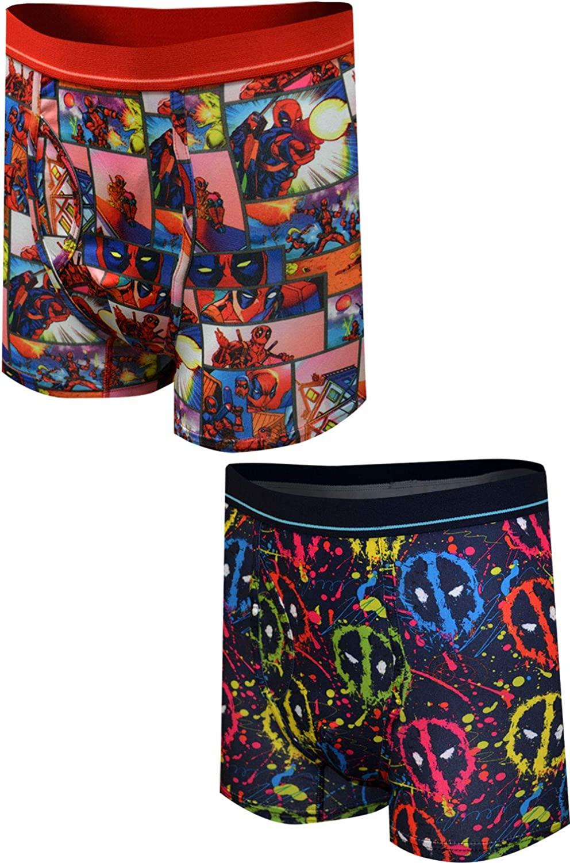 Marvel Mens Comics Boxer Briefs Free shipping / New Max 49% OFF 2 Underwear - Pa Deadpool