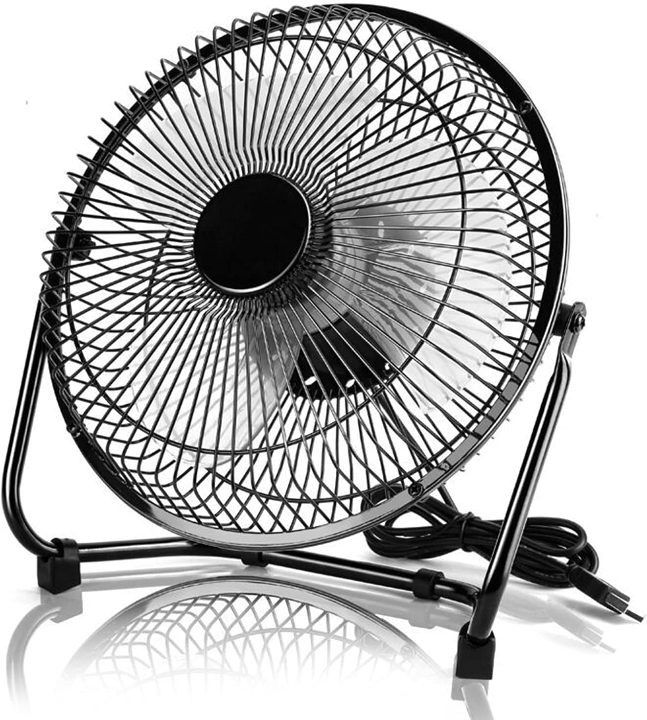 Household Products USB Max 54% OFF Desk Fan 8-Inch Discount mail order Table Power with Adap