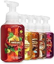 Bath and Body Works Fall Treats Foaming Hand Soaps - Set of 5 Soaps: Pumpkin Apple - Pumpkin Cupcake - Citrus Sugar Cookie - Coconut Pumpkin Latte - Fresh Strawberry Tart