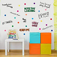 Wall Decals Quote Polka Dot Wall Stickers for Kids Bedroom, Living Room(Colorful)