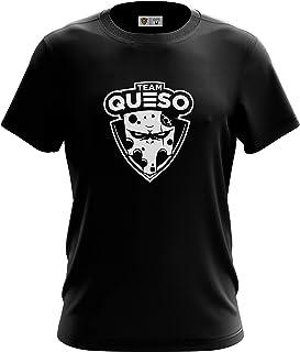 Team Queso Logo Vinilo (Shirt) Camiseta para Hombre