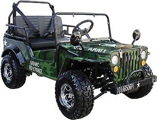 X-PRO 125cc Go Kart Dune Buggy 125cc Jeep Go Kart Mini Jeep Adult Jeep Kart Army Style Gokart