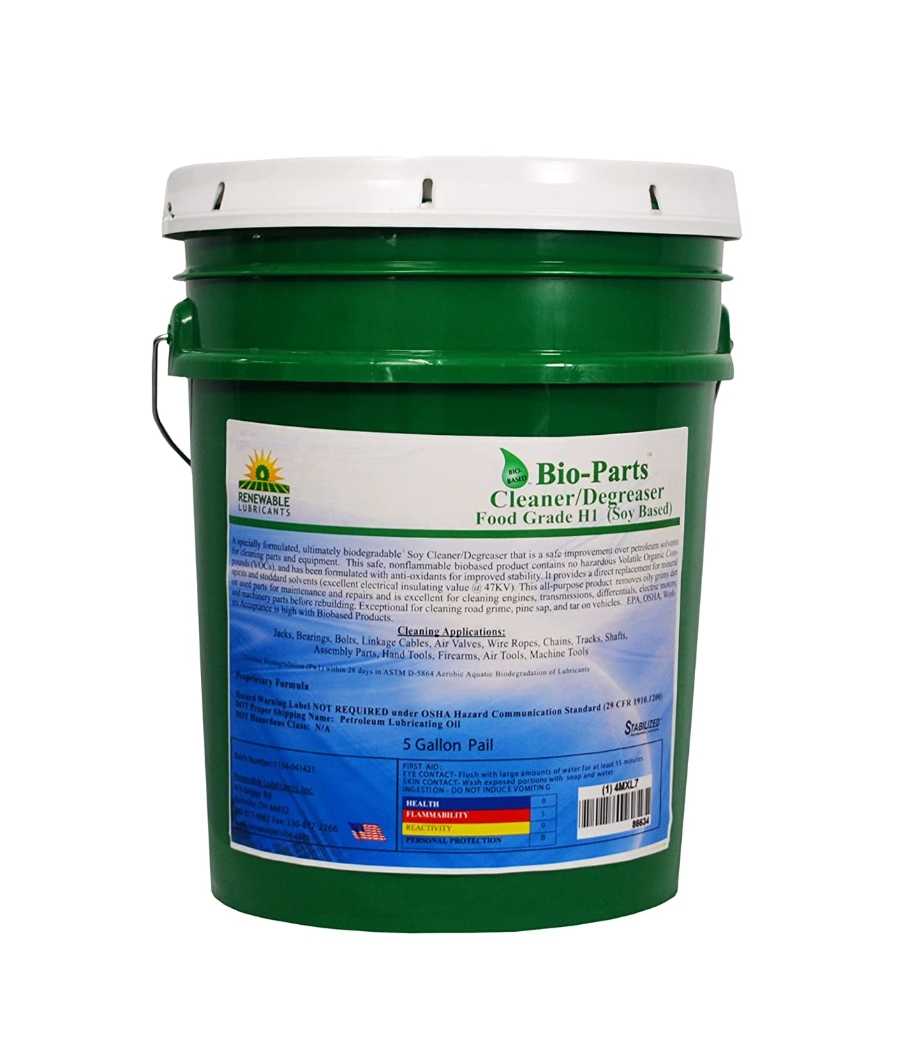 Renewable Lubricants Parts San Antonio Mall Cleaner price Degreaser 5 Yellow Pail gal