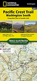Pacific Crest Trail, Washington South [Snoqualmie Pass to Cascade Locks] (National Geographic Topographic Map Guide)