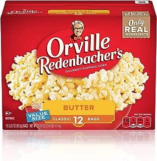 Orville Redenbacher's Butter Popcorn, 3.29 Ounce Classic Bag, 12-Count