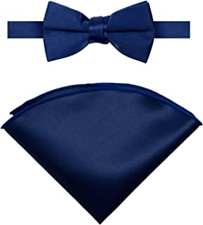 Spring Notion Boys' Satin Bow Tie and Handkerchief Set