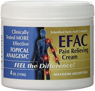 Hope Science EFAC Pain Relieving Cream Clinically Tested MORE Effective Topical Analgesic, Fast Acting CLINICALLY PROVEN Pain Relieving Cream 4 Ounce