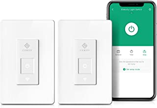 Etekcity Smart Light Switch Works with Alexa, Google Home for Voice Control, Set Schedule/Timer/Group, Standard US, Neutral Wire Needed, ETL and FCC listed (2 PACK), 2