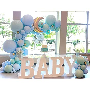 BABY SHOWER BALLOON ARCHES Pink Blue Yellow Boy Girl Party Helium Celebration UK