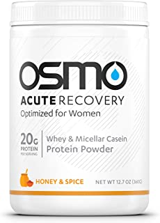 OSMO Nutrition - Acute Recovery Optimized for Women - Post Exercise Recovery Powdered Drink Mix - Promote Muscle Synthesis - Reduce Hormonal Influences on Recovery - Honey & Spice - 12 Serving Tub