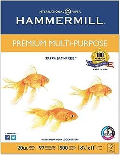 """""""Premium Multipurpose Paper, 20-lb, 8-1/2 x 11, White, 5000/Carton"""""""