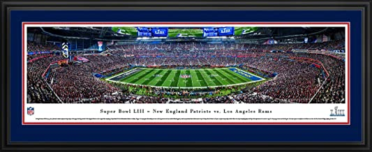 2019 Super Bowl LIII - Patriots vs. Rams - NFL Panoramic Posters and Framed Prints by Blakeway Panoramas
