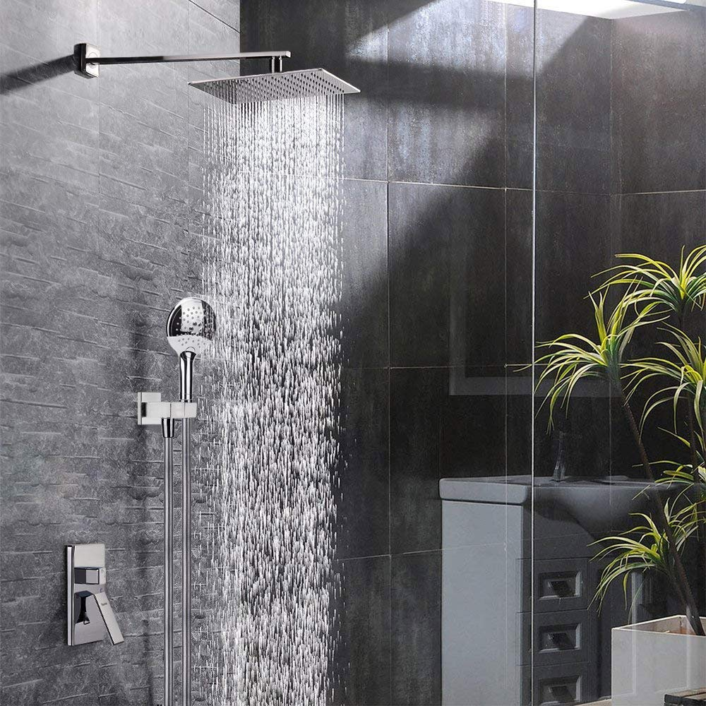 Modern shower faucet set, Rain shower systems with rain shower and