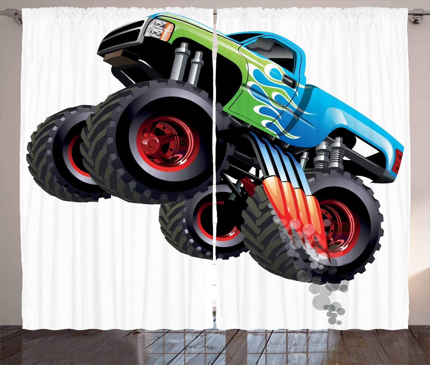 Sonernt Directly managed store Cars Curtains Cartoon Monster Vehicle Truck Quality inspection Cool Modifie
