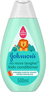 JOHNSON'S Toddler & Kids Conditioner - No More Tangles, Formula Free of Parabens & Dyes, 500ml