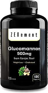 Glucomanano 500 mg, 180 Cápsulas | Fibra vegetal de la raí