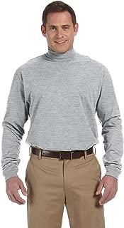 Devon & Jones Men's Sueded Cotton Jersey Mock Turtleneck
