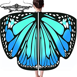 Butterfly Wings for Girls Kids Butterfly Costume Fairy Shawl Cap with Mask