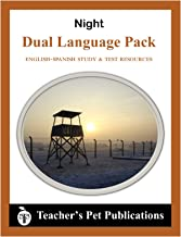 Night by Elie Wiesel English-Spanish Study Guide Worksheets & Tests (English and Spanish Edition)