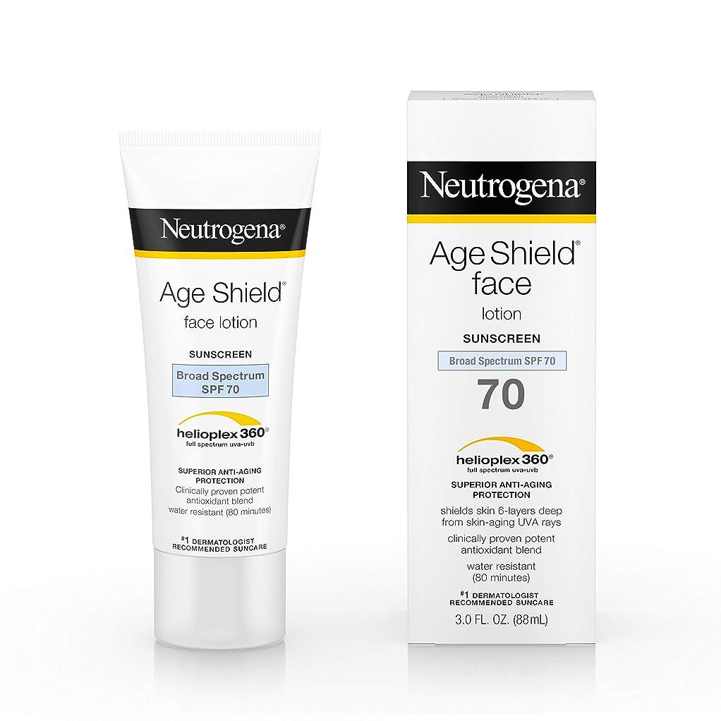 サイズ収束ソースNeutrogena Age Shield Anti-Oxidant Face Lotion Sunscreen Broad Spectrum SPF 70, 3 Fluid Ounce
