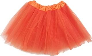 Rush Dance Ballerina Girls Dress-Up Princess Fairy Costume Recital Tutu (Kids 3-8 Years, Orange)