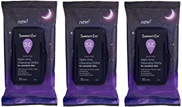 Summer's Eve Lavender Night-Time Cleansing Cloth Sensitive Skin, 32 Ct - Pack of 3