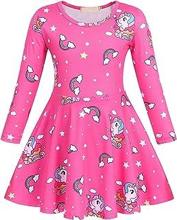 فستان للفتيات من Jurebecia على شكل ديناصور مناسب لأعياد الميلاد والحفلات الراقصة وحفلات الزفاف والحفلات الراقصة 3-10 سنوات