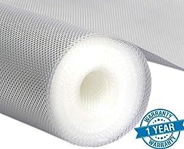 ZHENGTU Multipurpose Textured Super Strong Anti-Slip Mat Liner - Size 45X500cm (5 Meter Roll, White) (45X500)