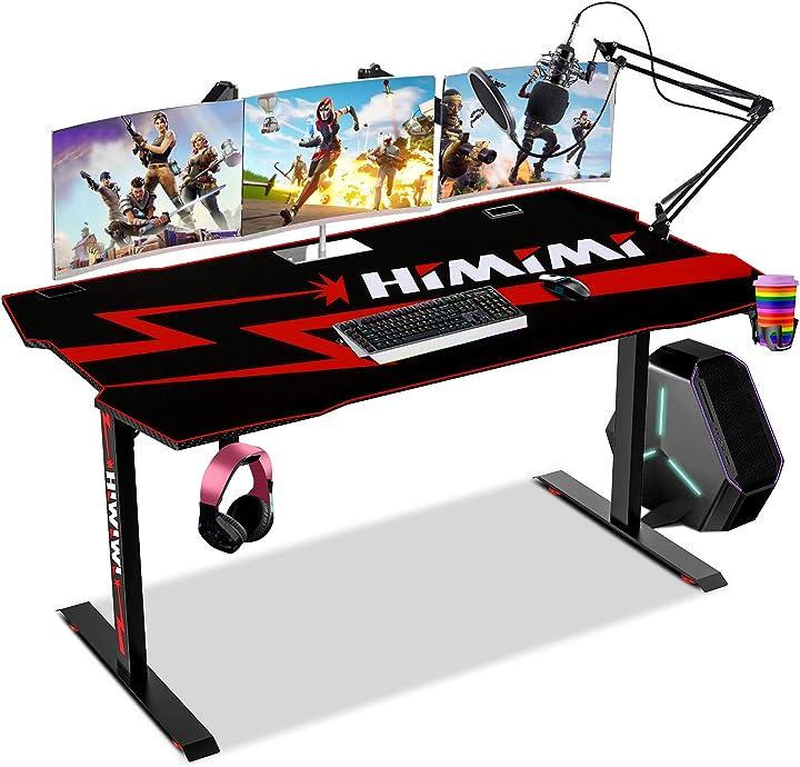 Scrivania da gioco 60`` gaming desk , 152 x 71 x 76 cm ergonomica per pc, giochi da tavolo -himimi B08HVDTVJZ