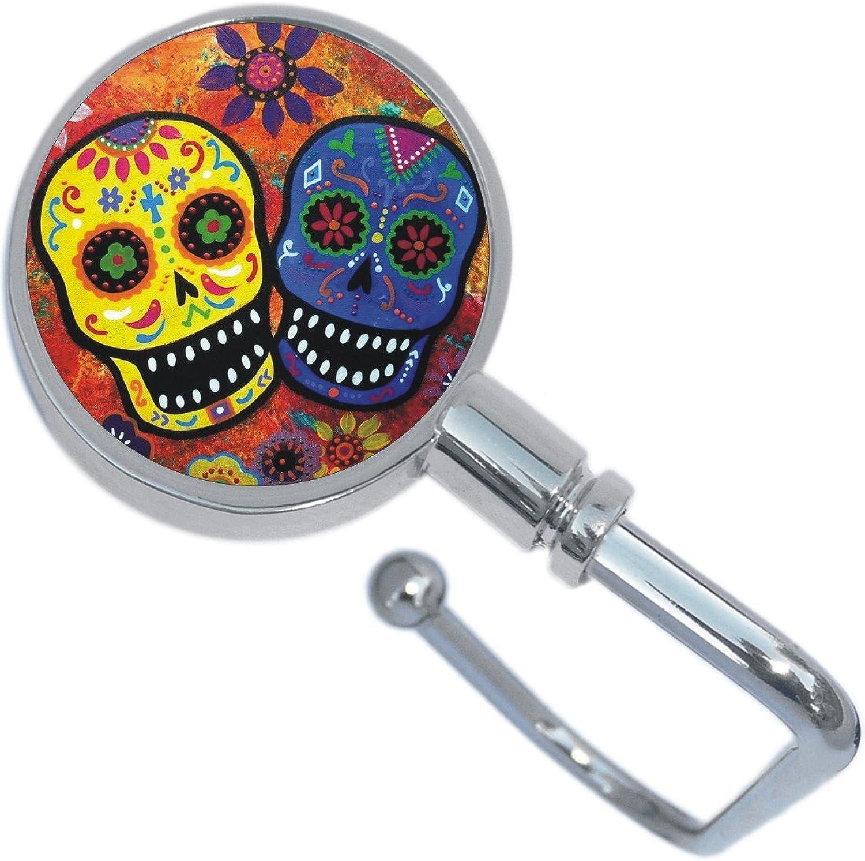 colorful Sugar Skulls Dia De Los Muertos Purse Hanger