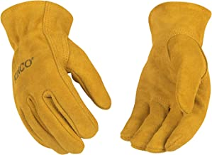 KINCO 50-C Suede Cowhide Gloves, Shirred Back, Keystone Thumb (Ages 3-6), Child, Golden