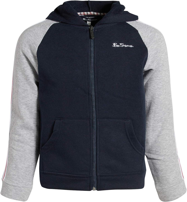 Ben Sherman Boys Fleece Hoodie Zip Up Sweatshirt