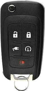 KeylessOption Keyless Entry Car Remote Start Uncut Flip Key Fob for 2011-2015 Chevy Volt OHT05918179