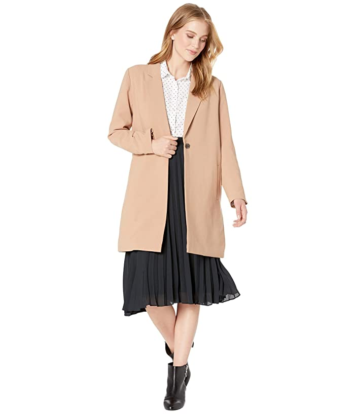 1920s Coats, Flapper Coats, 20s Jackets Cupcakes and Cashmere Haarlem Suiting Blazer Coat Caramel Womens Jacket $168.00 AT vintagedancer.com