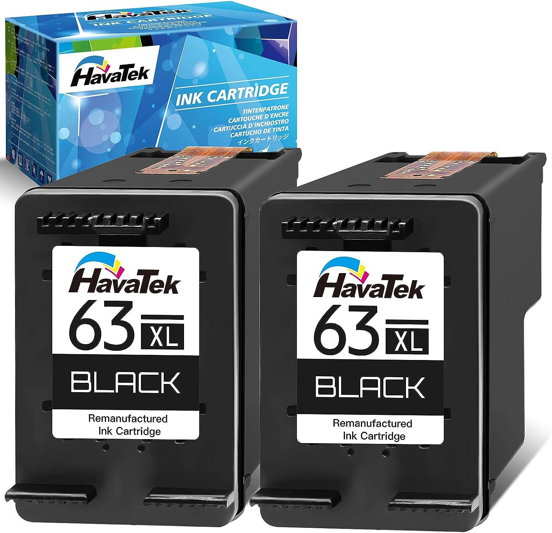 HavaTek Remanufactured Ink Cartridge Replacement for HP 海外 販売期間 限定のお得なタイムセール 63 63XL