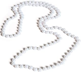 Rhode Island Novelty 48 Inch 7mm White Pearl Necklaces, Pack of 12