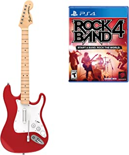 Mad Catz Rock Band 4 Wireless Fender Stratocaster Guitar Controller and Software Bundle for PlayStation 4 - Red