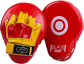 PAMASE 耐久性 パンチングミット キックミット 左右汎用 キックボクシング ボクシングミット 格闘技ミット 耐衝撃性 テコンドー 左右1セット 総合格闘技 武術 トレーニング 男女兼用 軽量