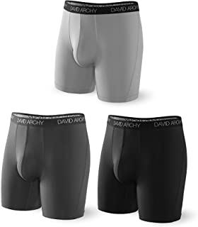 DAVID ARCHY 3 Pack Men's Ultra Fast Dry Performance Boxer Briefs