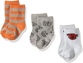 Tom & Jerry Bamboo Cotton Sock - Printed (Pack of 3) - Grey/White/Orange 6-12M