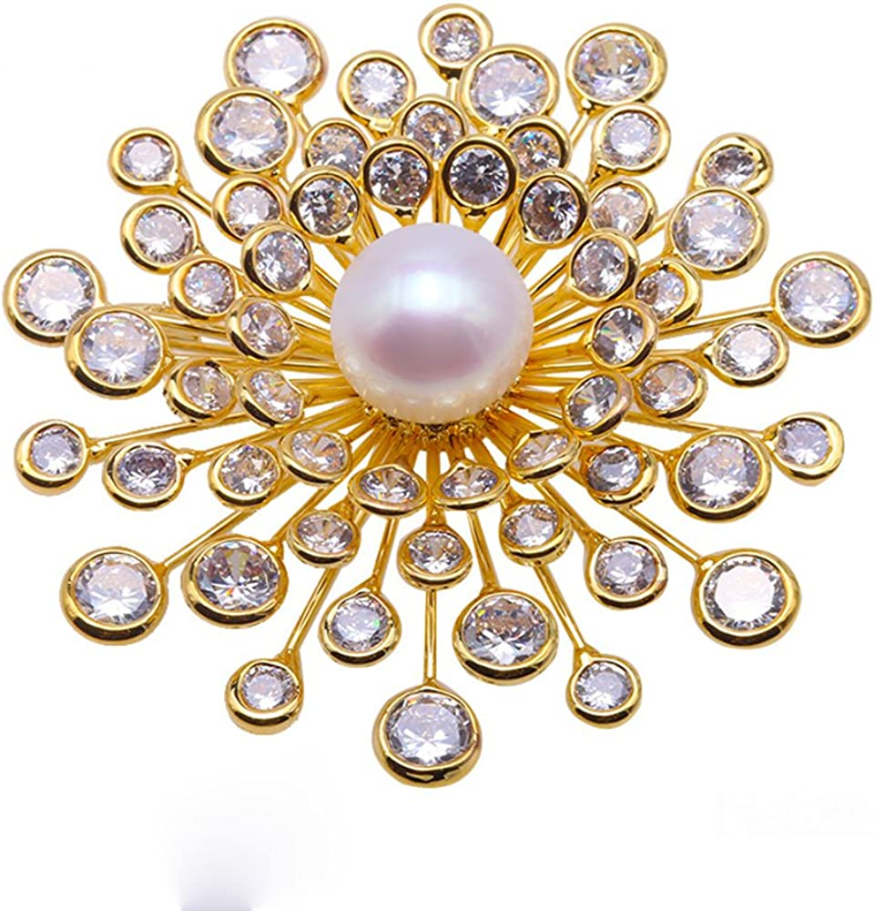 JYX Fine White OFFicial Freshwater Pearl Sales for sale Pins Brooch Brooches Bouquet