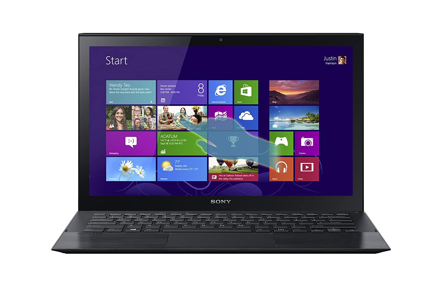 Sony VAIO Pro SVP13213CXB 13.3-Inch Core i5 Touchscreen Ultrabook (Carbon Black)