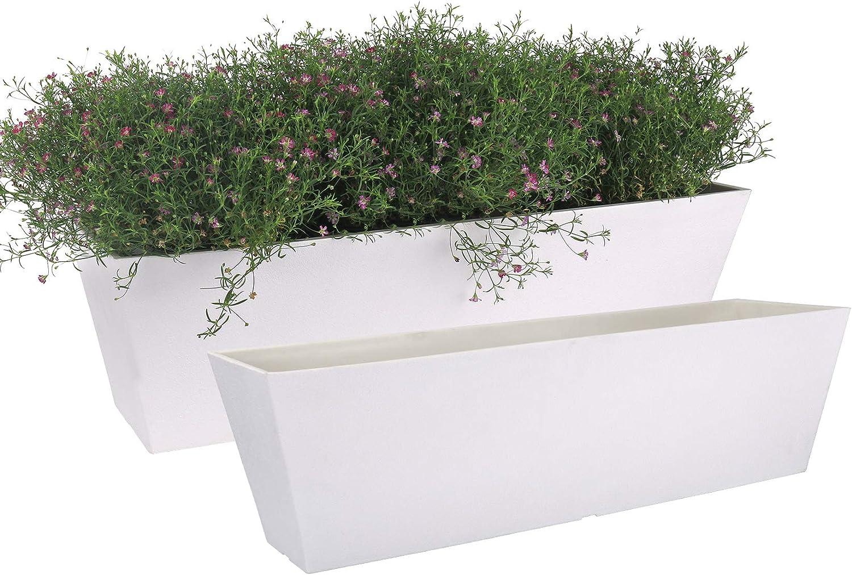NEW before selling LA JOLIE MUSE Window Boxes store Planters Rectangular Plastic Planter