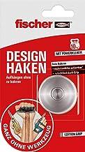 fischer Design haak, zelfklevende wandhaak in roestvrij staal, zonder boren en schroeven, praktische ophanging, garderobeh...