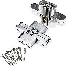 Vetrineinrete/® Set 2 cerniere a T cerniera a croce in acciaio per porta finestra con viti per il fissaggio 250 mm 91155 C9
