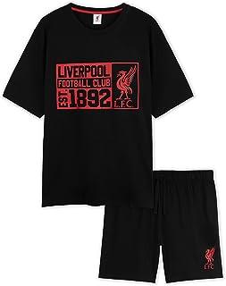 Liverpool F.C. Mens Pyjamas, Lounge Set Summer Short PJs, Football Gifts for Men