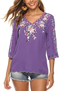 Best purple mexican blouse Reviews
