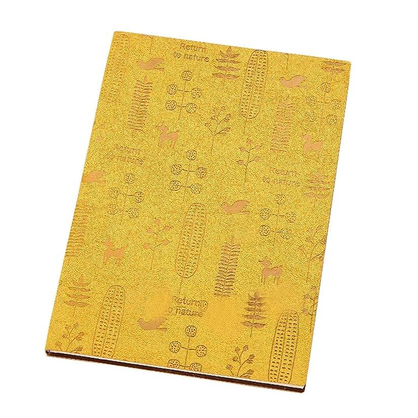 オフィスノート シンプルノート80ページメモ帳レザー大ヴィンテージビジネスワーク肥厚ノート (Color : Yellow, サイズ : 14.5*20.7cm)